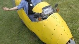 Craig Vetter y su vehículo ecológico de 2 ruedas