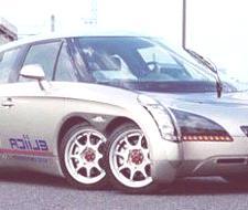Eliica, un coche híbrido de ocho ruedas