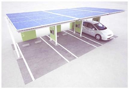 Estación de carga solar