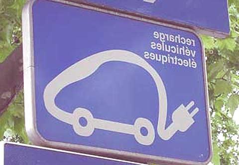 panel coche eléctrico