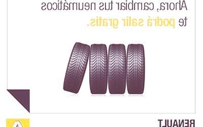 Renault Servicios, a un SMS del cambio de ruedas gratis
