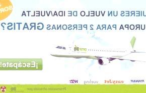 ViajeRed y EnterBio regalan 100 vuelos ida y vuelta para dos personas